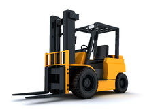 Forklift truck and box Stock Image