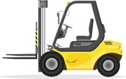 Forklift truck. Royalty Free Stock Images