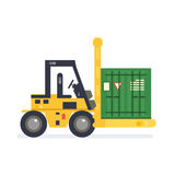 Forklift truck carrying Royalty Free Stock Photos