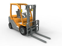 Forklift truck. 3D rendered illustration of a forklift truck isolated on a white background with shadows royalty free illustration