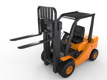 Forklift truck. 3d rendering forklift truck on white background stock image