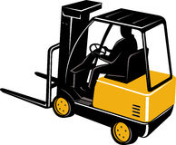 Forklift truck with driver Royalty Free Stock Photography