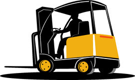 Forklift truck with driver Royalty Free Stock Photos