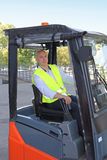 Forklift Truck Driver Royalty Free Stock Photos