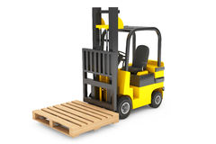Forklift Truck with empty palette Stock Photography