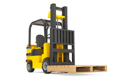 Forklift Truck with empty palette Royalty Free Stock Photos