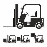 Forklift truck icon set Stock Photos