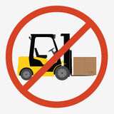 Forklift truck isolated Royalty Free Stock Photos