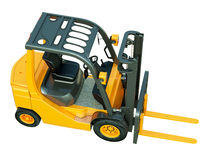 Forklift truck isolated Stock Photos