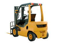 Forklift truck isolated. Modern forklift truck isolated on white background royalty free stock photography