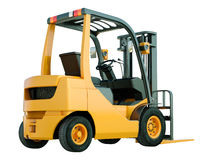 Forklift truck isolated. Modern forklift truck isolated on white background stock image