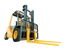 Forklift truck isolated Royalty Free Stock Photography