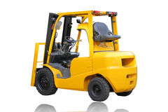 Forklift truck isolated on white background Stock Photos