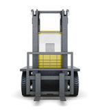 Forklift truck isolated on white background. 3d rendering Royalty Free Stock Photography