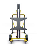 Forklift truck isolated on a white background. 3d rendering Royalty Free Stock Photo