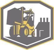 Forklift Truck Materials Handling Logistics Retro Stock Image