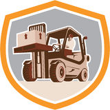 Forklift Truck Materials Handling Logistics Shield Stock Image