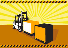 Forklift Truck Materials Handling Retro Stock Images