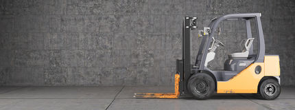 Free Forklift Truck On Industrial Dirty Wall Background Stock Photography - 28264402