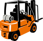 Forklift truck and operator Stock Photo