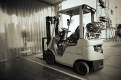 Forklift Truck Shot Royalty Free Stock Images