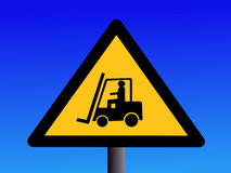 Forklift truck sign Royalty Free Stock Image