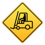 Forklift truck sign Stock Image