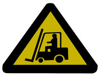 Forklift truck sign Royalty Free Stock Photos
