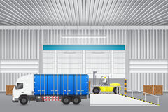 Forklift and truck Stock Photography