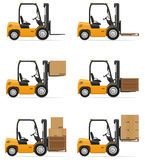 Forklift truck vector illustration Stock Image