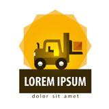Forklift truck vector logo design template. car or Royalty Free Stock Photo