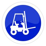 Forklift truck web button Royalty Free Stock Photos