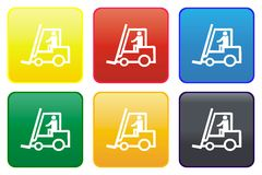 Forklift Truck Web Button Royalty Free Stock Photography