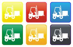 Forklift truck web button Royalty Free Stock Photo