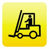 Forklift truck web button Stock Images