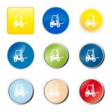 Forklift truck web button Royalty Free Stock Images