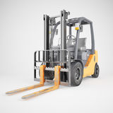 Forklift truck on white background stock photography