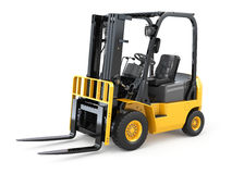 Forklift truck on white  background. Stock Photos