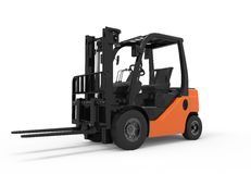 Forklift truck on a white background Stock Images