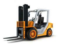 Forklift truck only Royalty Free Stock Images