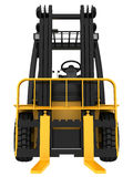 Forklift truck on white isolated background Stock Photo
