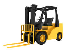 Forklift truck on white isolated background Royalty Free Stock Image