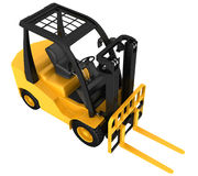 Forklift truck on white isolated background Stock Photos