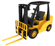 Forklift truck on white isolated background Royalty Free Stock Photography