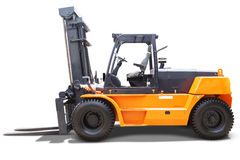 Forklift truck with yellow color Stock Image