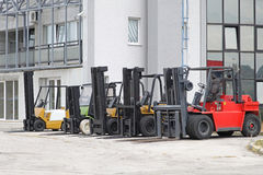 Forklift trucks Stock Images
