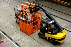 Forklift trucks Royalty Free Stock Photography