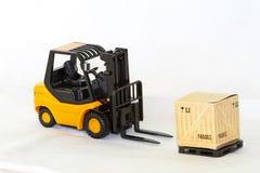 Forklift unload Stock Images