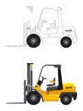 Forklift vector Stock Photo