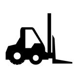Forklift vehicle isolated icon Royalty Free Stock Photography